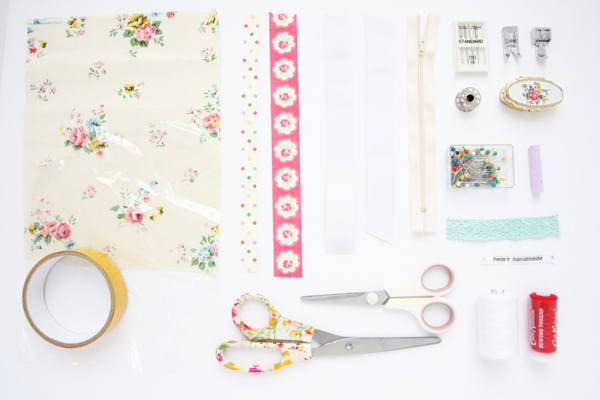 Cath Kidston DIY Pencil Case Supplies Needed