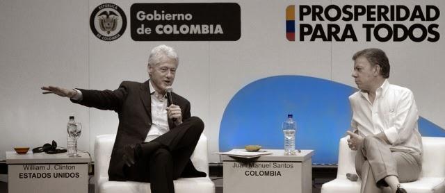 Juan Manuel Santos Bill Clinton