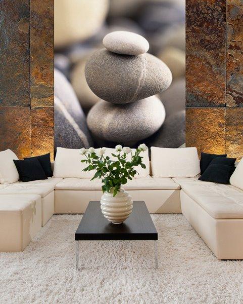 Imagenes De Decoracion De Centros De Estetica ~ Fotomural 97413 Pebbles Piedras Zen