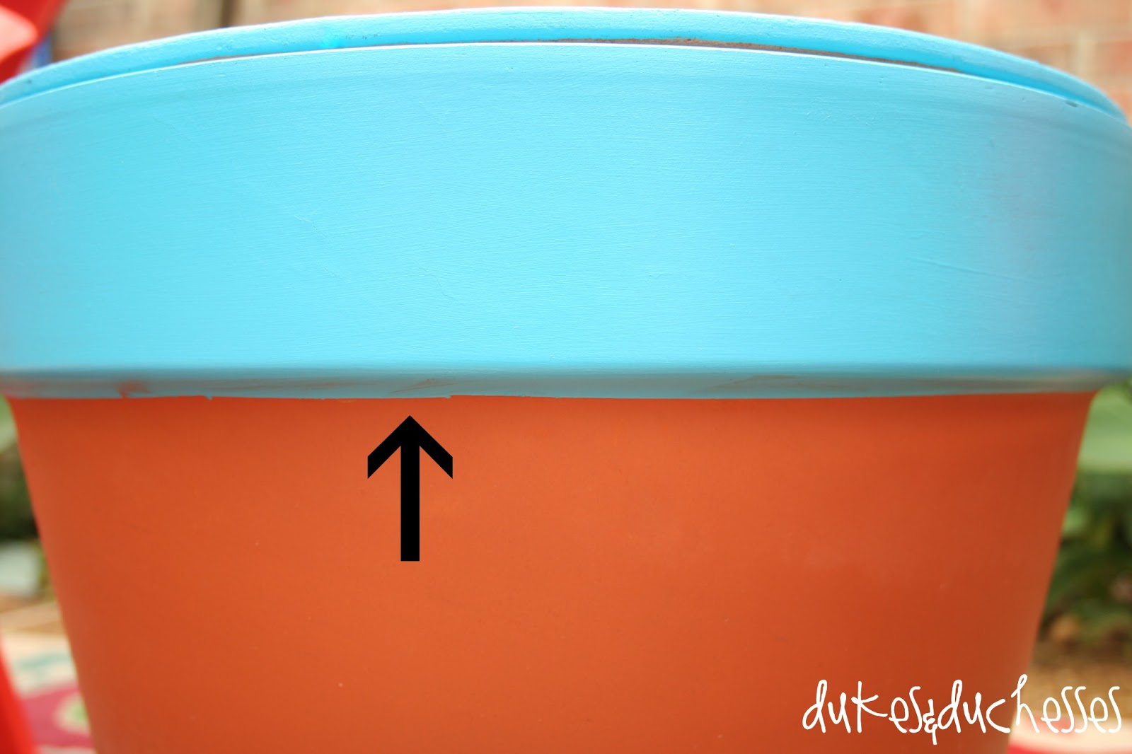How to make a terracotta pot table dukes and duchesses - How to make terracotta colour ...