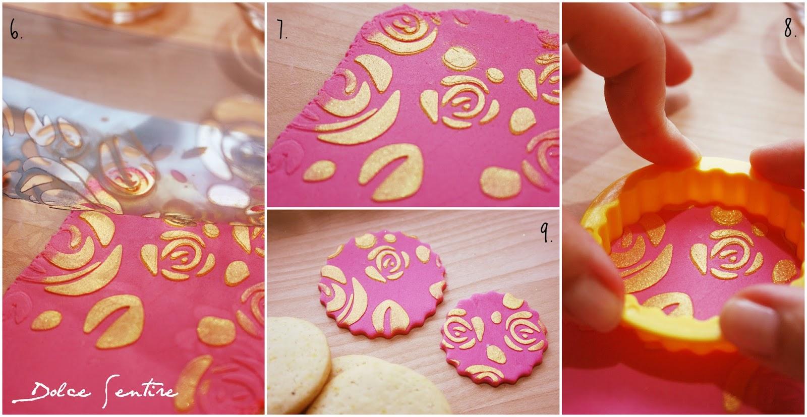 Cómo usar stencils sobre fondant para decorar galletas {Video Tutorial}