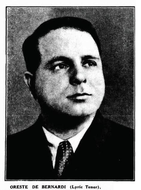 ITALIAN TENOR ORESTE DE BERNARDI (1893-1944) CD