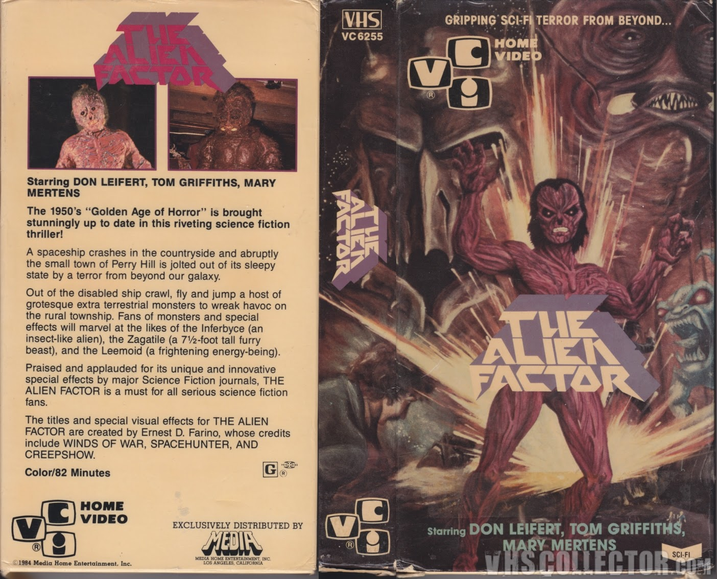 The Alien Factor VHS cover