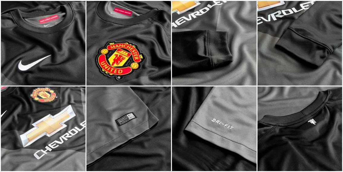 Detail Jersey GO Manchester United GK Black LS 2014-2015