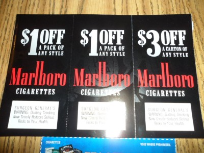 Downloadable cigarette coupons