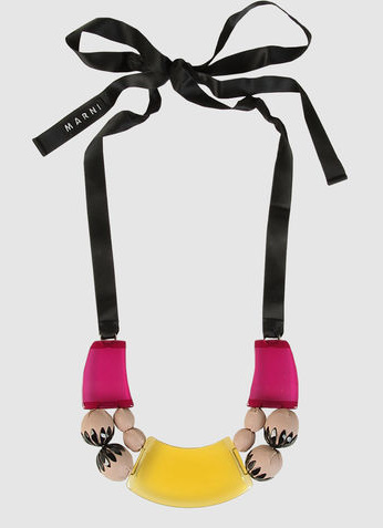shop marni stylight up ribbon necklace to necklaces product resin