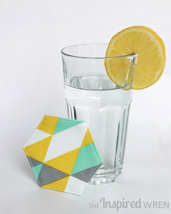"Coaster, just one of the many projects from ""Contain It! English Paper-Pieced Accessories"" 