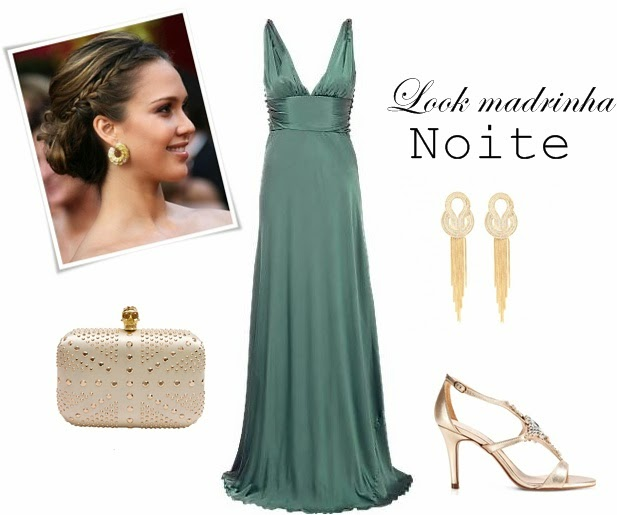 Vestido verde esmeralda combina com que sapato
