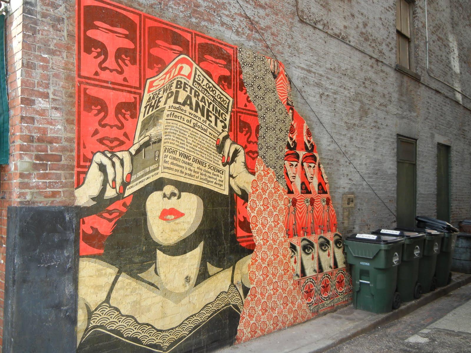 Queen city tour shepard fairey murals