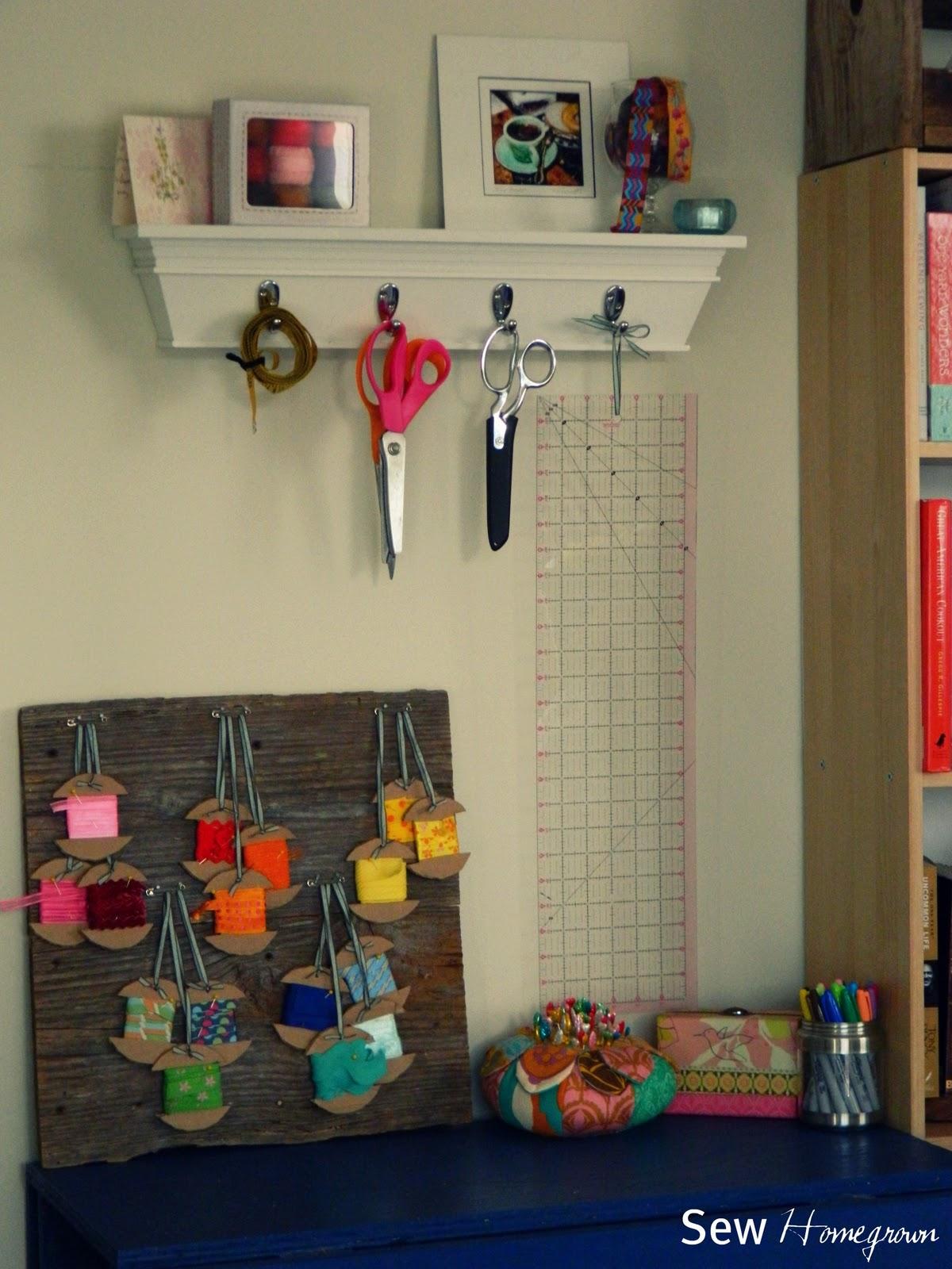 DIY Ribbon Storage & Sew Homegrown: DIY Ribbon Storage