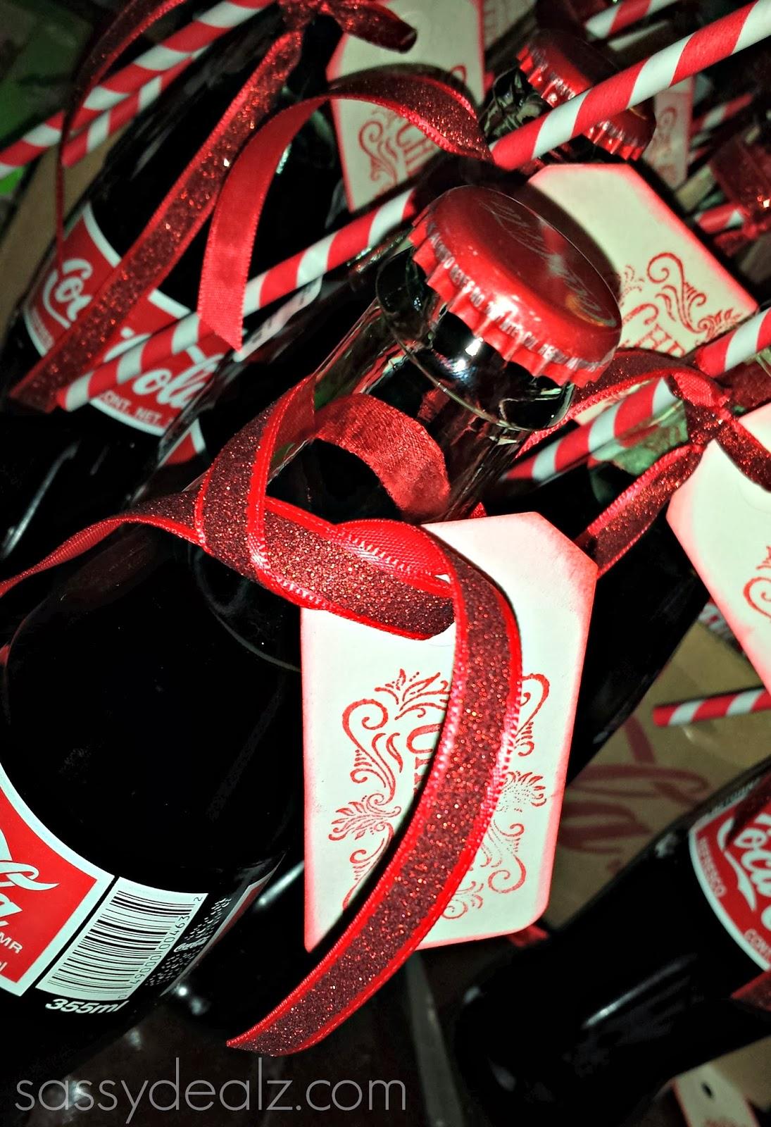 diy coke bottle wedding favors