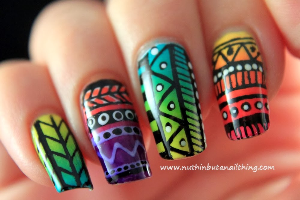 nuthin\' but a nail thing: 33 Day Challenge - Day 4 - Tribal