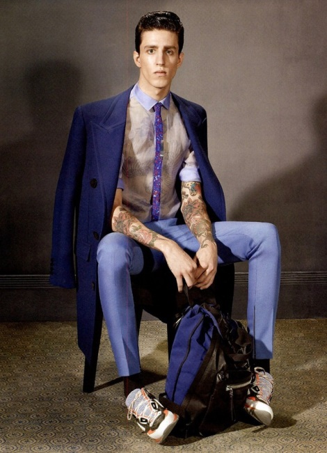 Miles Langford in Lanvin Fall 2013 Campaign by Steven Meisel