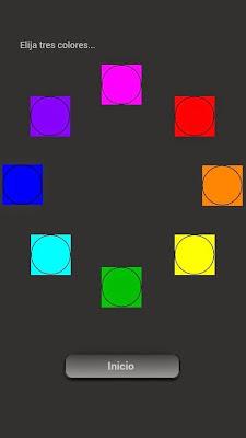 Primera versión del test de los colores, ¡Qué horror! ¡Son círculos no cuadrados!