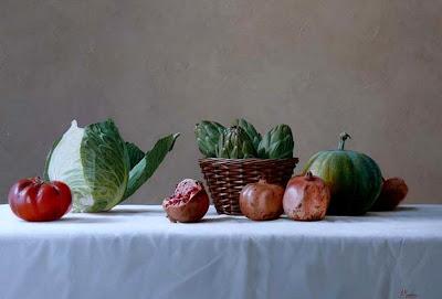 pintura-bodegon-con-verduras