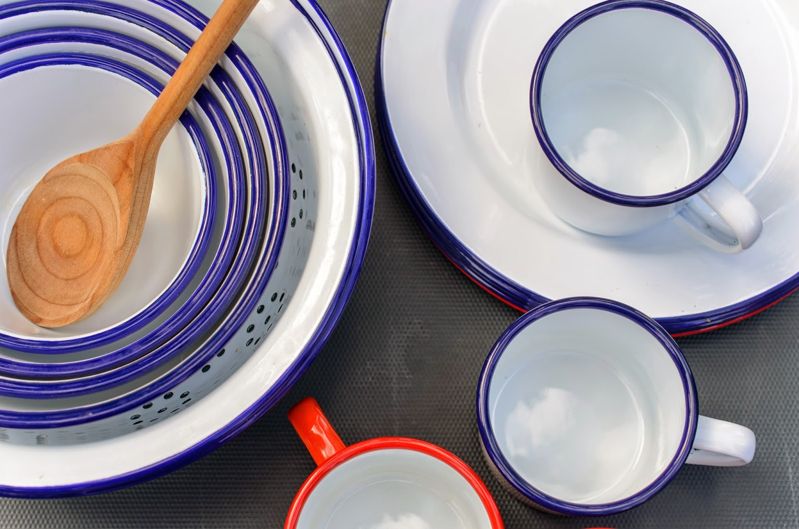 To Get You Started For The Camping Season One Lucky Person Will Win A Set Of Four Red Rimmed Enamelware Plates And Second Winner Recieve