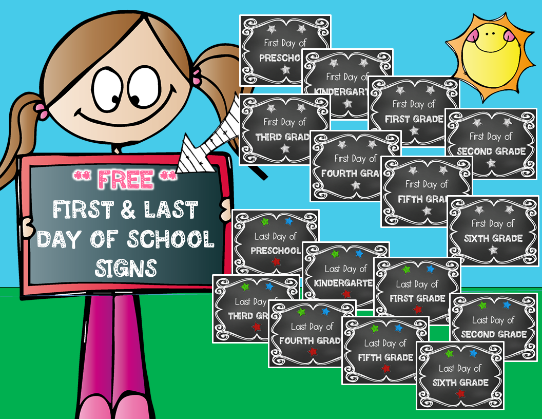 Hopping from K to 2!: Chalkboard Back To School SIgns