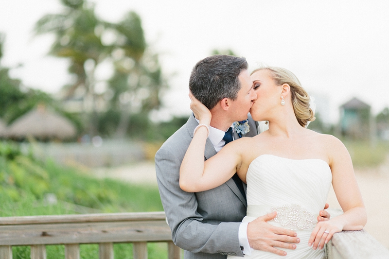 bride and groom florida beach wedding