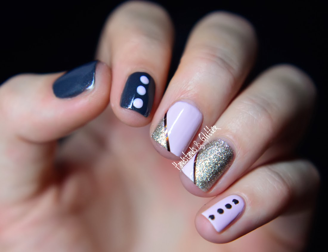 Nageldesign Skittle-Nails mit FIJI, CASHMERE BATHROBE & BEYOND COZY von essie