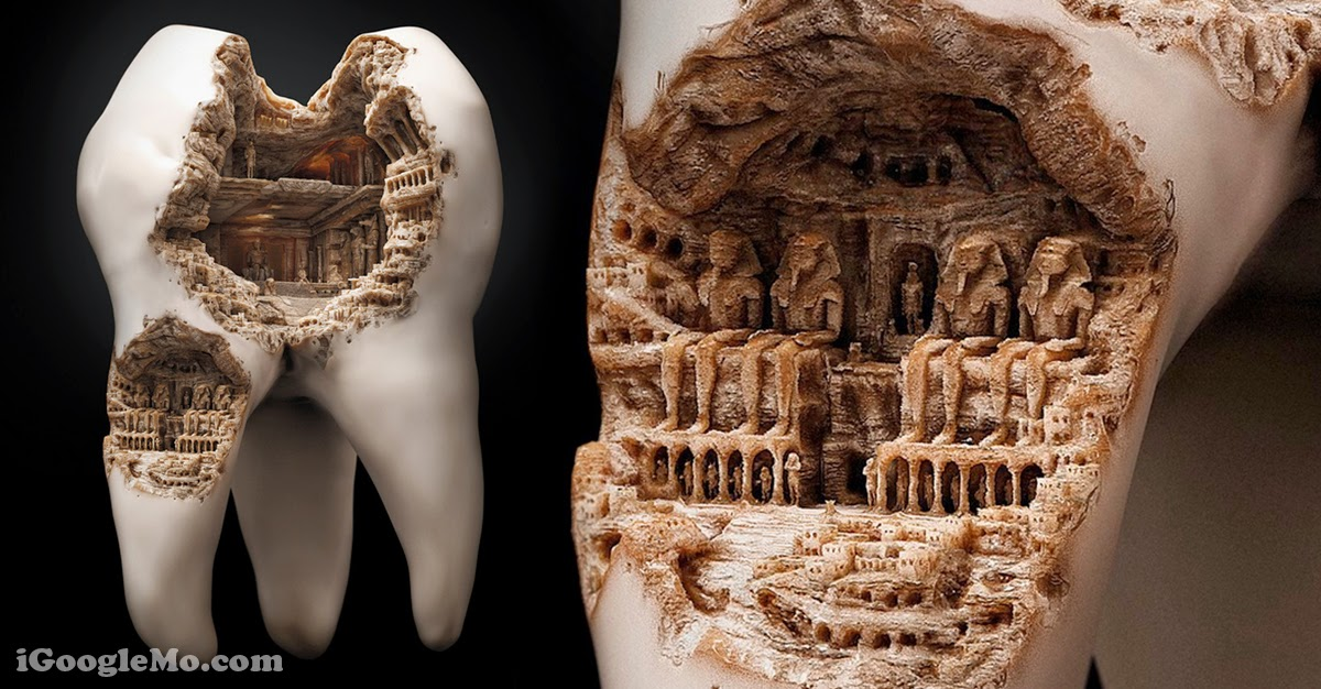 Incredible Tiny Pieces Of Art Carved Out Of Teeth