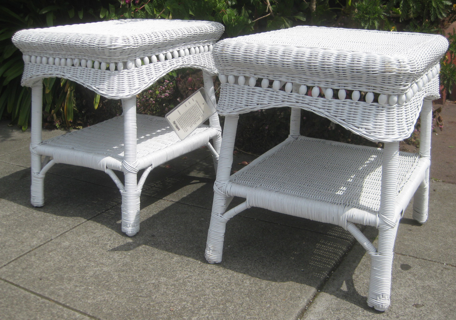 Uhuru Furniture Collectibles Sold Pier 1 Wicker Side Tables