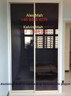 Common Bedroom Aluminium Sliding Door Wardrobe After Complete