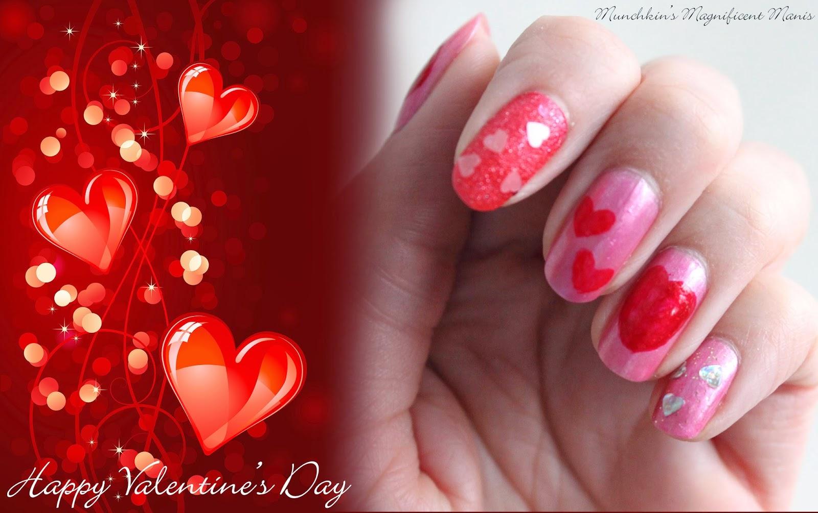 Valentine's day nail design