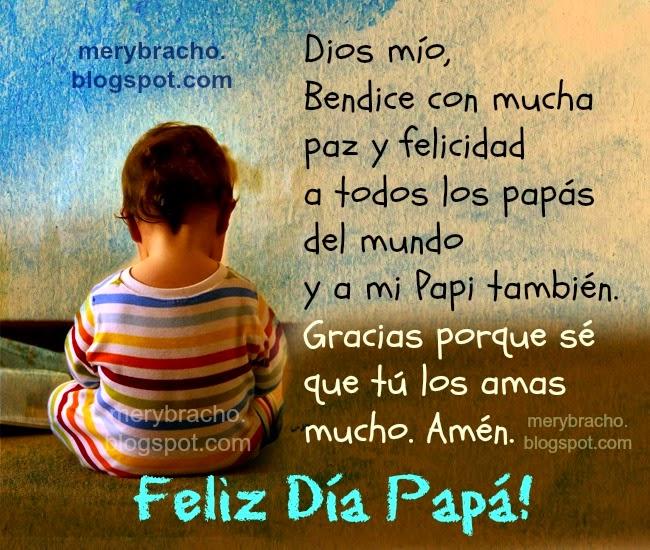 Tarjeta Postal Feliz Día Papá. Dios Bendícelo siempre. Feliz día del padre, saludos para el facebook para etiquetar a padres, papás, Dios bendice a mi papá. Postales cristianas para tío, abuelo, suegro, amigos en el día especial de cumpleaños o día del padre.