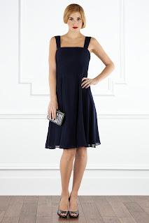 retro bridesmaid blue