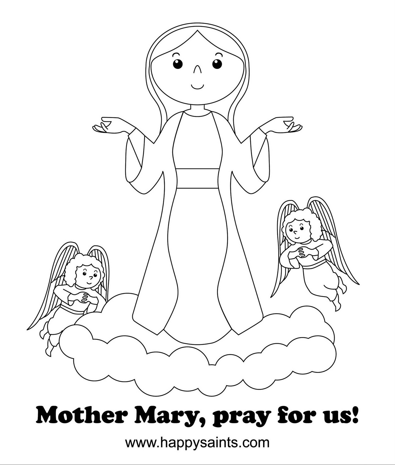 assumption of mary coloring pages - photo#21