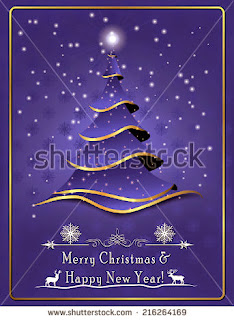 orporate Merry Christmas and a Happy New Year - greeting card for printing