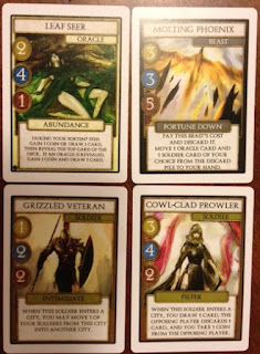 example of text in cards for Omen Reign of War game