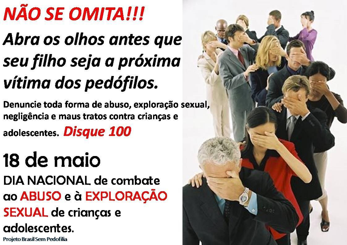 Projeto Brasil Sem Pedofilia País Incentiva Combate Ao Abuso E