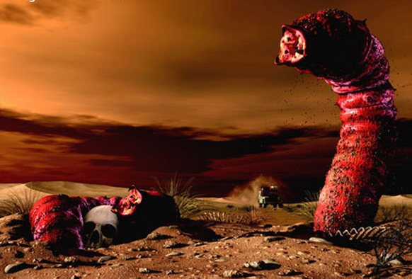 """cacing kematian mogolia""  cacing ganas di gurun gobi"