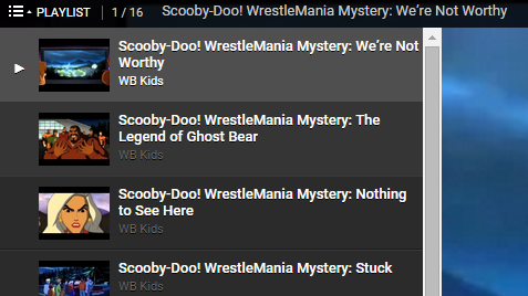 scooby doo playlist sample