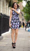 Kelly Brook shows off her great legs