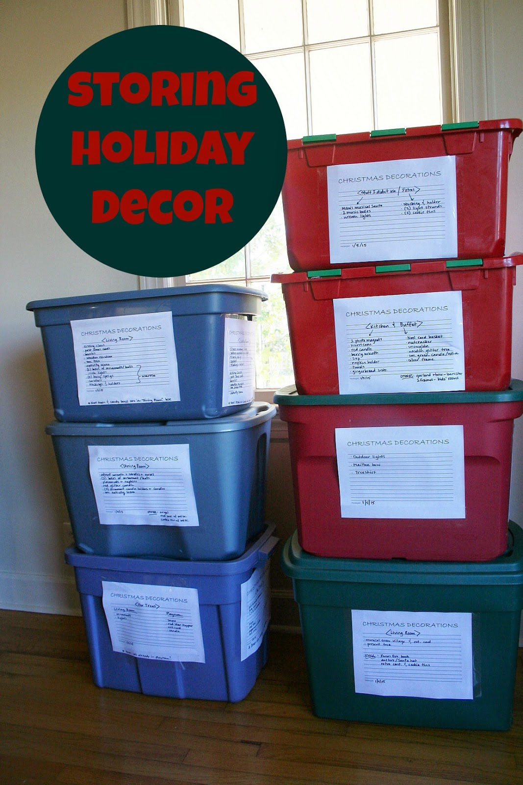 Organizing Plus 123: Storing Holiday Decor