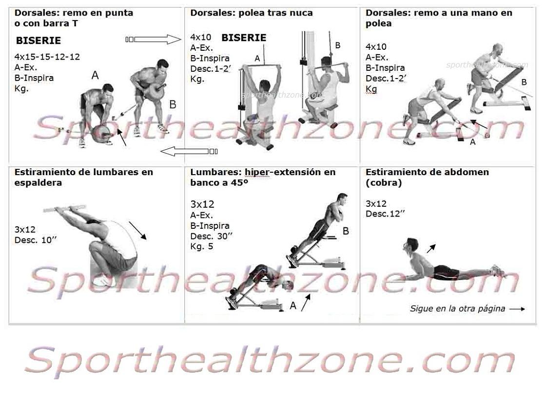 rutinas de ejercicios entrenamiento fitness pesas
