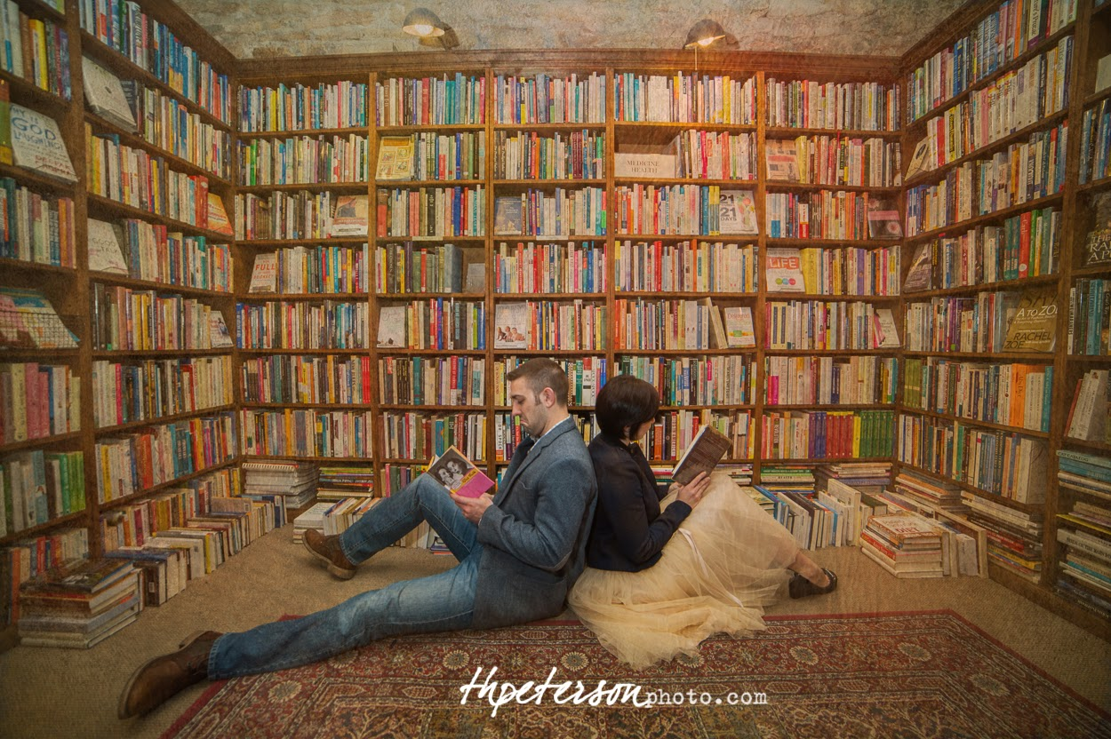 Erin And Matthews Magical Engagement Session The Dusty Bookshelf Lawrence KS
