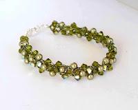 Olivine Swarovski Crystal & Pearl Bracelet