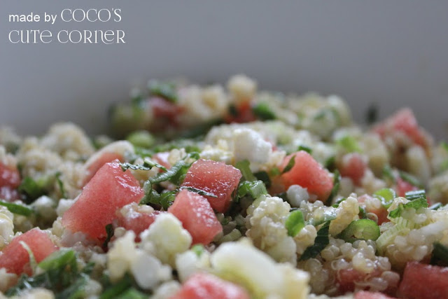 Quinoa with Watermelon and Feta