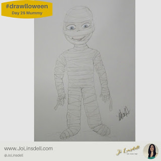 #Drawlloween Day 25 Mummy #Drawing #challenge