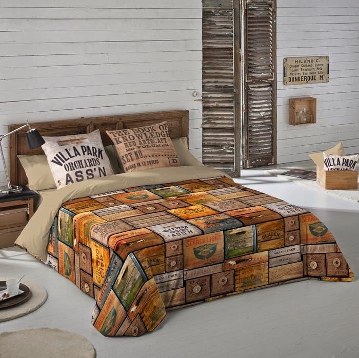 Wood Box Nature. Euromoda. Funda nórdica y juego de sábanas
