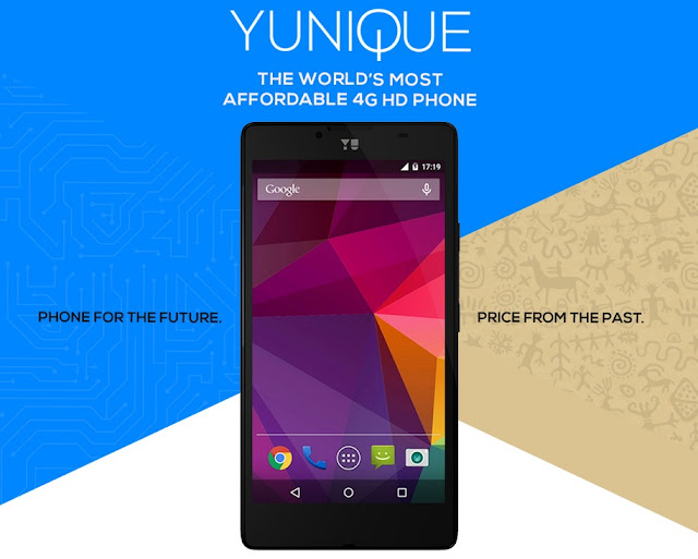 Yu Yunique Smartphone Launched in India | $75 Only