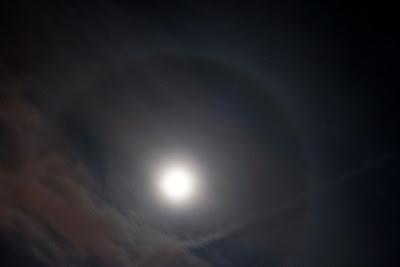 ring around moon Indiana