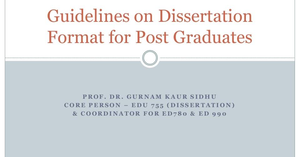 Dissertation Format