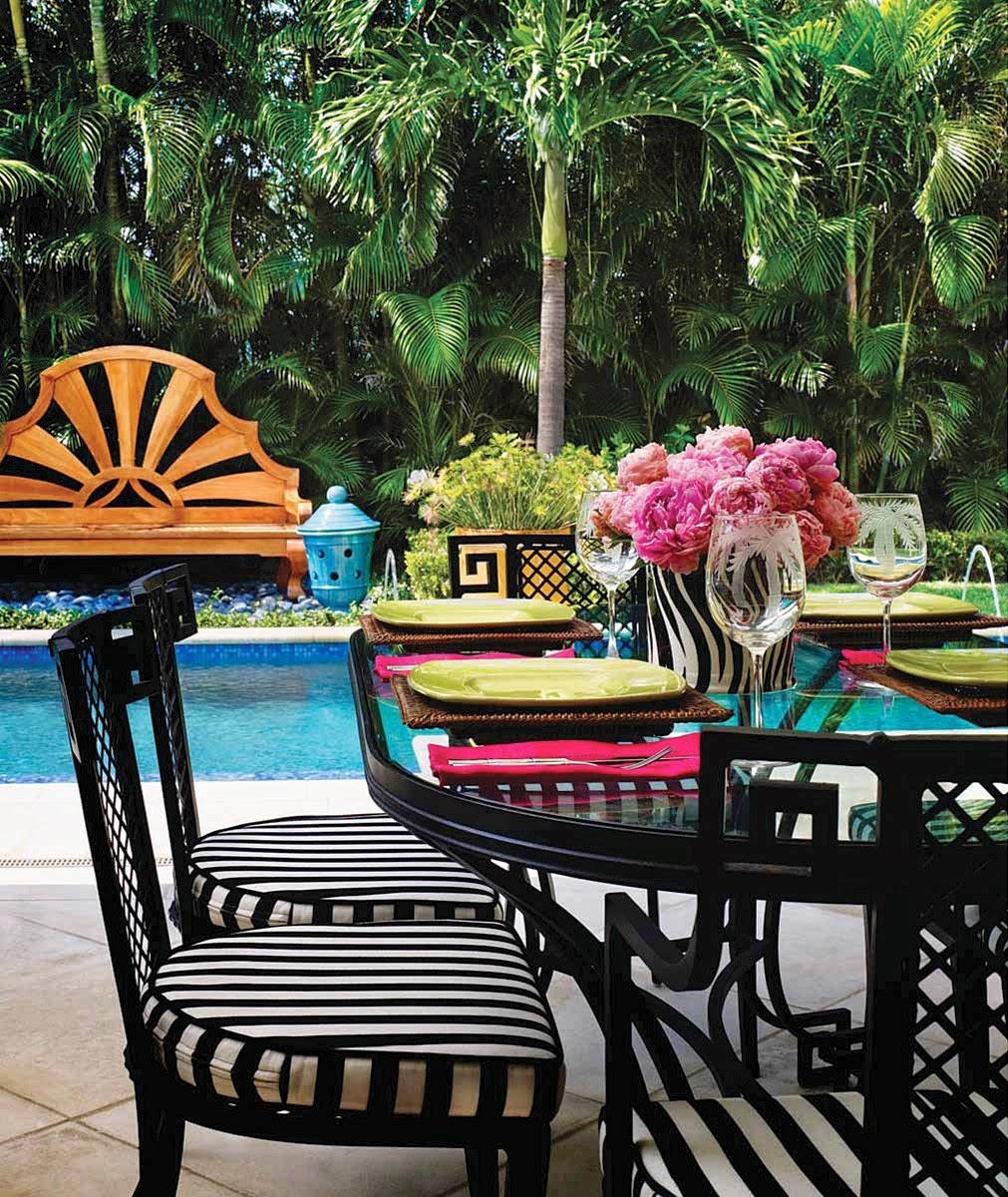 Vintage Greek Key Aluminum Patio Furniture Palm Beach Chic Hollywood