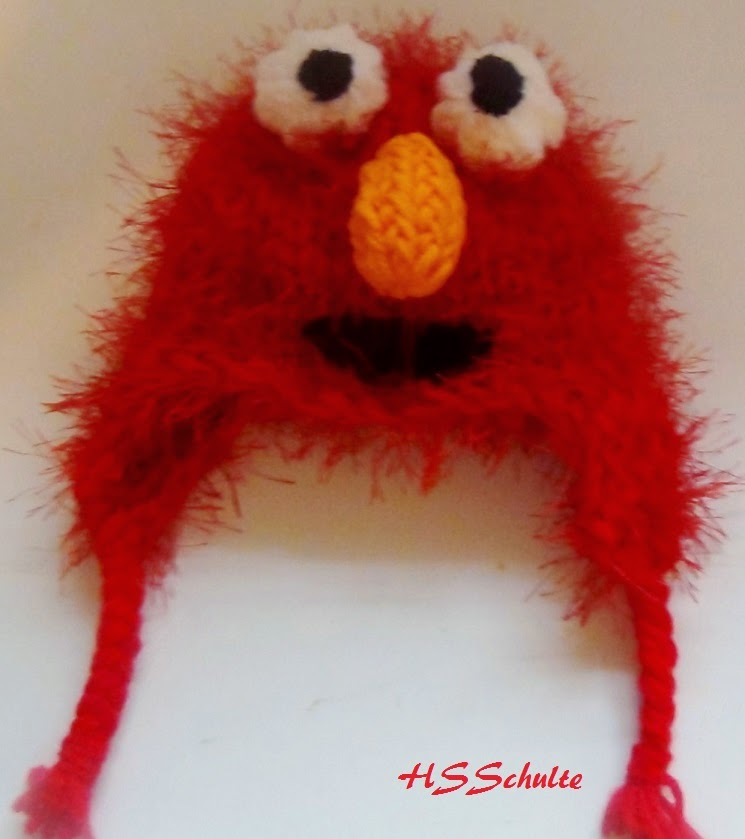 Loom Knit Elmo Hat