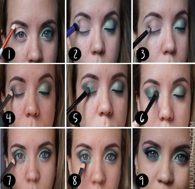Tutorial de maquiagem para copa do mundo passo-a-passo fotorial azul e verde brasil