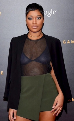 Photos: Keke Palmer shows off pierced nipple in see-though top